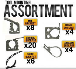 Набор креплений Quick Fist Tool Mounting Assortment (90099)