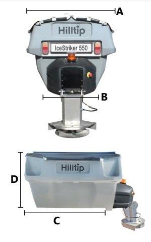 Разбрасыватель HillTip IceStriker Spreader 550